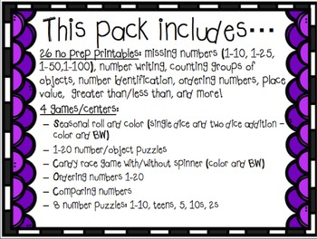 MEGA Kinder multi skill math pack!-counting-place value-number writing-and more!