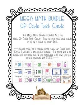 MEGA MATH BUNDLE - QR Code Task Cards
