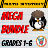MEGA MRS. J's MATH MYSTERY BUNDLE (GRADES 1 - 6)
