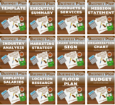 MEGA MEGA BUNDLE BUSINESS PLAN LESSON PLANS  (EDITABLE)
