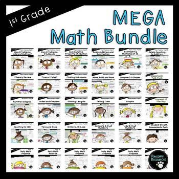 MEGA Math Bundle (First Grade, Standards-Aligned)
