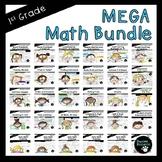 First Grade Mega Math Bundle (Standards-Aligned-3,152 pages!)
