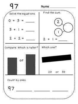Kindergarten Mega Math Bundle (Standards-Aligned)
