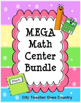 MEGA Math Centers Bundle - 39 math centers for 3rd Grade - 300+ pages