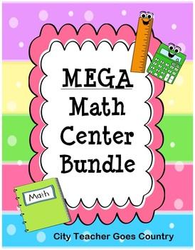 MEGA Math Centers Bundle - 39 math centers for 3rd Grade -