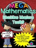 MEGA  Mathematics Blackline Masters Toolkit! All grades!