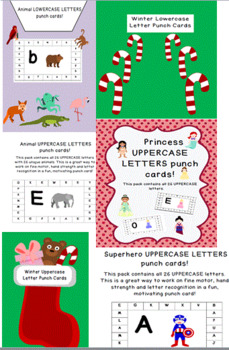 MEGA PACK $8 for $12 worth hand strength/letter recognition punch cards 90 pgs