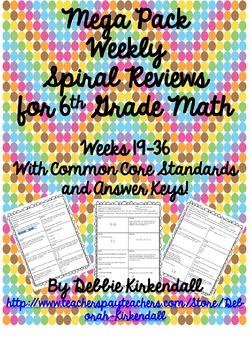 MEGA PACK Weekly Spiral Review Weeks 19-36