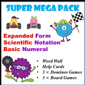 Mega Pack 6 Math Centrers Scientific Notation Expanded Form