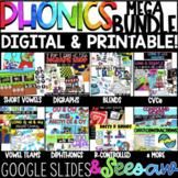 MEGA Phonics GROWING Bundle! ALL the Digital &Printables! Google Slides & Seesaw