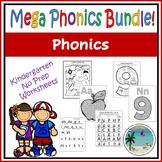 MEGA Phonics Worksheet Pack - Pre-K Kindergarten