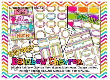 MEGA Rainbow Chevron Neon Themed Bundle