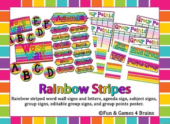 MEGA Rainbow Stripe Neon Themed Bundle