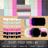 MEGA Seller's Toolkit Bundle #2 - Digital Paper, Frames, R