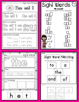 THE MEGA SIGHT WORD PACK- 20 weeks of lessons, 700+ pages