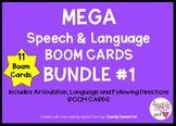 MEGA Speech and Language BOOM CARDS BUNDLE #1  11 Boom Car