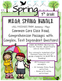 MEGA Spring BUNDLE 5th - Close Read Passages w/ Text Dependent Complex Quest.