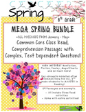 MEGA Spring BUNDLE 8th - Close Read Passages w/ Text Dependent Complex Quest.
