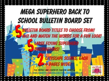 MEGA Superhero Bulletin Board Pack Great for Back to School!