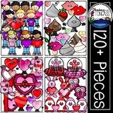 Valentine Clipart MEGA Set (Valentine's Day Clipart)