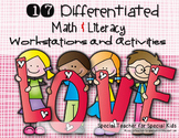 Sweet Valentine Math and Literacy Bundle