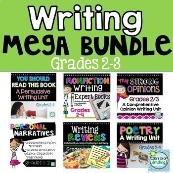 Year Long Writing Workshop Bundle 2nd Grade And 3rd Grade Tpt
