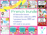 MEGA ready-to-use BUNDLE for French with interactive lessons, grammar and games