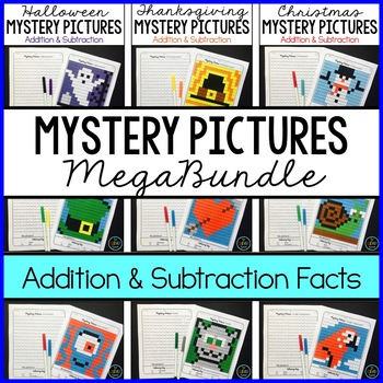Addition and Subtraction-- Mystery Pictures MEGABUNDLE