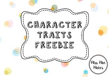 CHARACTER TRAITS FREEBIE