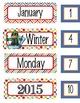the BRAINY BUNCH - Classroom Calendar set / Month headers