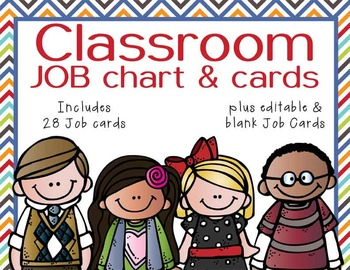 the BRAINY BUNCH - Classroom Helpers JOBS clip chart by ...