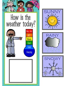 the BRAINY BUNCH - Classroom Weather Chart