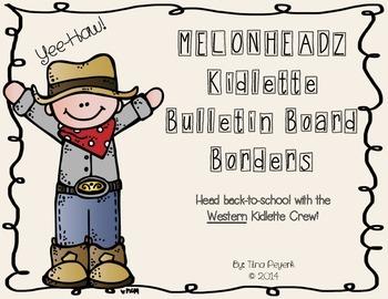 MELONHEADZ Western Kidlette Bulletin Board Borders