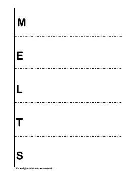 MELTS Forms of Energy English/Spanish