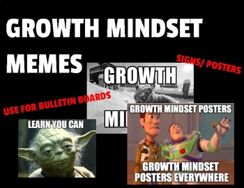 Memes Growth Mindset Posters Signs By It S Just Adam Tpt