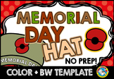 MEMORIAL DAY CRAFTS POPPY HAT TEMPLATES OR HEADBAND