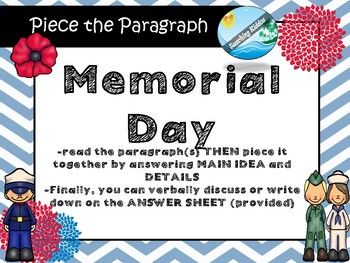 History of MEMORIAL DAY   puzzle game