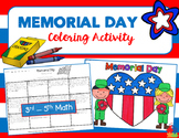 MEMORIAL DAY MATH Coloring Activity