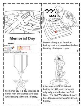 MEMORIAL DAY Mini Book Reader