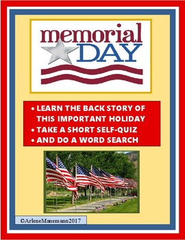 MEMORIAL DAY Reading and Activities