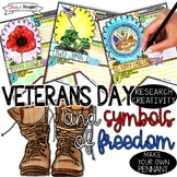 VETERANS DAY, SYMBOLS OF FREEDOM, RESEARCH, PENNANT, MAKE YOUR OWN BANNER