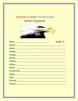 MEMORIAL DAY VOCABULARY EXTRAVAGANZA