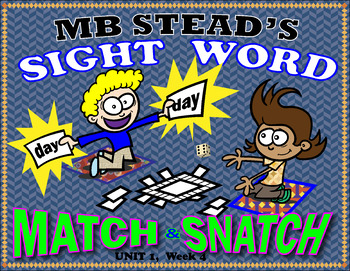 MEMORIZE SIGHT WORDS with INTERACTIVE GAMES 1st GRADE (UNIT 1, WEEK 4)