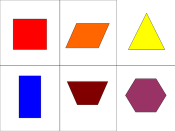 MEMORY - 2d and 3d shapes
