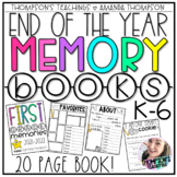 MEMORY BOOK for the END OF THE YEAR