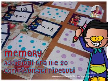 MEMORY DELLE ADDIZIONI (con risultati tra 11 e 20)