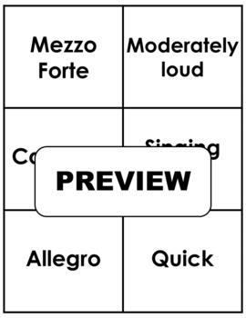 MEMORY GAME: Italian Terms