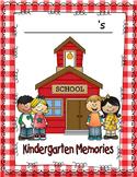 MEMORY OR SCRAPBOOK FOR KINDERGARTEN