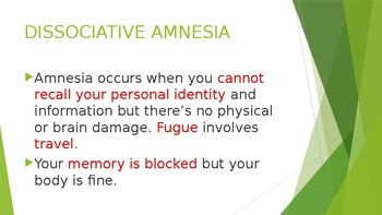 MEMORY PROBLEMS DUE TO PSYCHOLOGICAL STRESS
