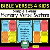 MEMORY VERSE SYSTEM for PreK-2 Classroom or Sunday School